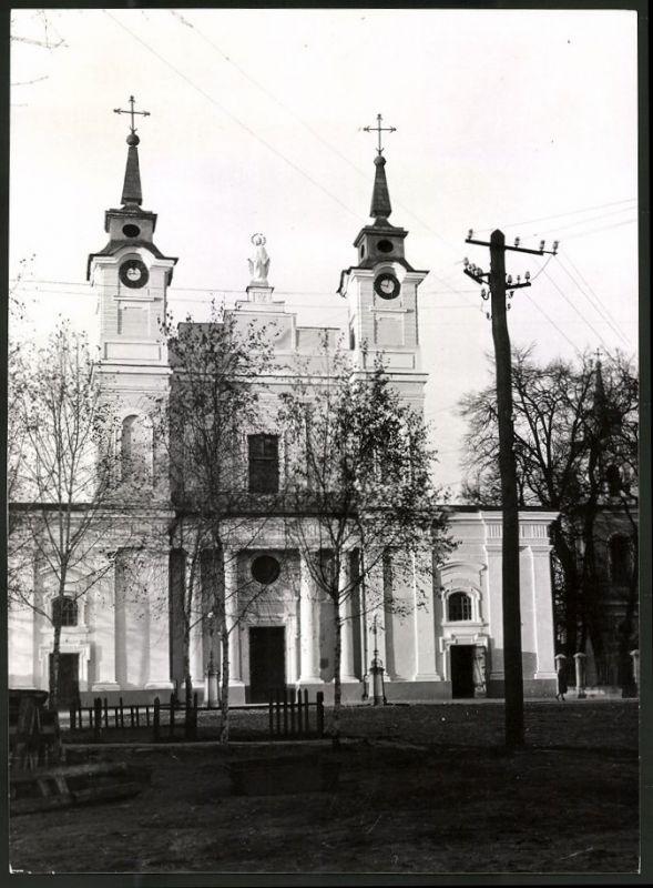 Fotografie Fotograf unbekannt, Ansicht Berdicev, Kirche, Ansicht der Front-Fassade