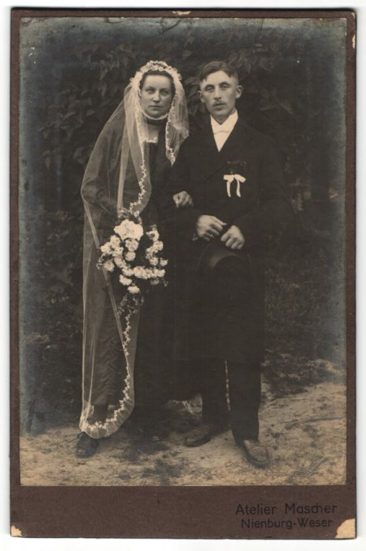 Fotografie Atelier Mascher, Nienburg-Weser, Portrait Hochzeitspaar zur Trauung