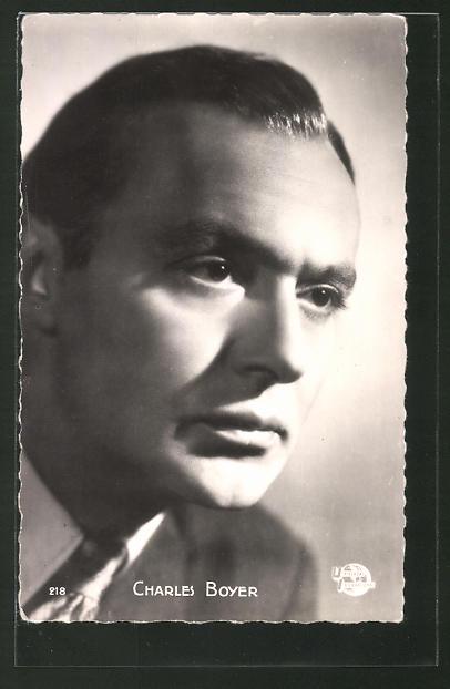 AK Portrait des Schauspielers Charles Boyer