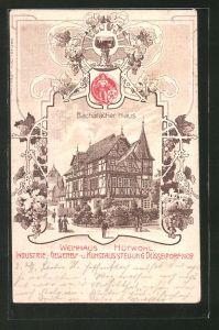 Lithographie Düsseldorf, Industrie-, Gewerbe- und Kunstausstellung 1902, Bacharacher Haus