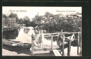 AK Rostock, Wasserpartie am Mühlentor