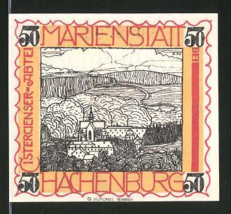 Notgeld Hachenburg 1921 50 Pfennig Stadtwappen