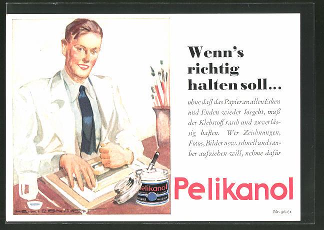 AK Reklame für Klebstoff