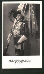 AK Wien, Sänger-Bundesfest 22. Juli 1928, Obmann des Fahnenjunkerbundes