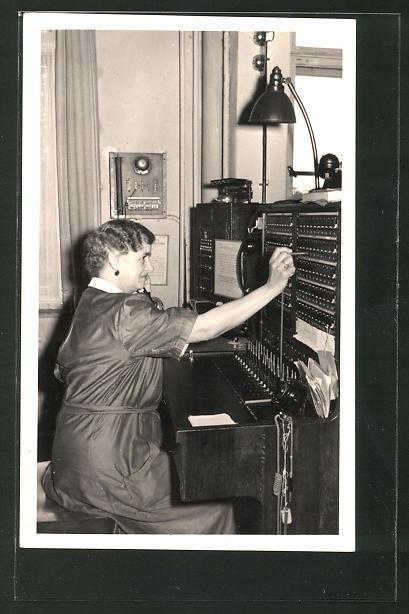 AK Herstellung einer Verbindung in einer Telefon-Zentrale