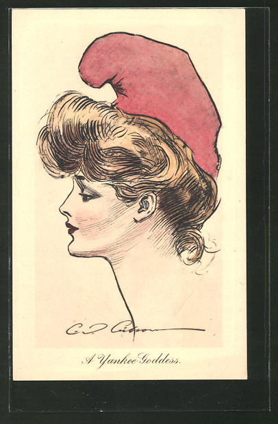 Künstler-AK Charles Dana Gibson: A Yankee Goddess