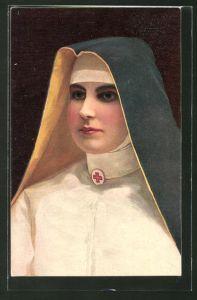AK Bildnis einer Schwester des Roten Kreuzes