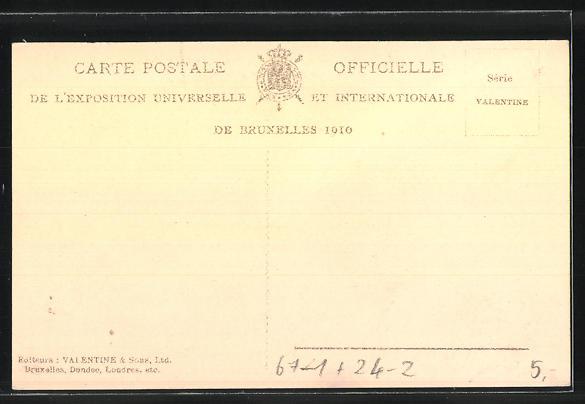AK Bruxelles, Exposition / Ausstellung 1910, L'incendie / Brand 14.-15.8., Bruxelles-Kermesse vers la place du Marché 1