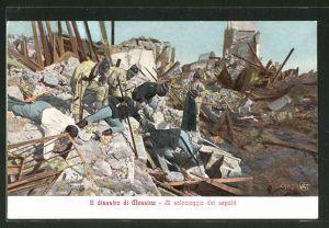 AK Messina, Al salvataggio de sepoliti, Bergung von Erdbebenopfern