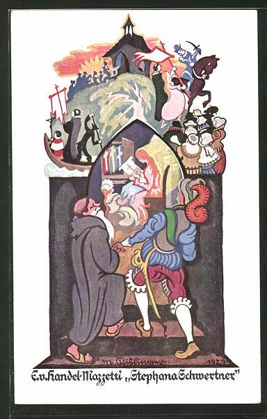 Künstler-AK Edo v. Handel-Mazzetti: