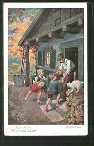 Künstler-AK Otto Kubel: Hänsel und Gretel Nr. 6: