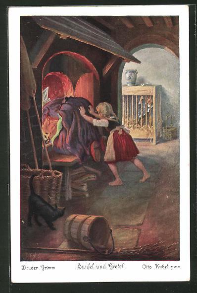 Künstler-AK Otto Kubel: Hänsel und Gretel Nr. 5: