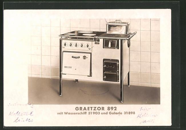 AK Reklame für Graetzor Elektro-Herd Pl.-Nr. 892