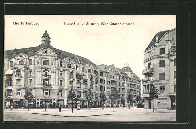 Ak Berlin Charlottenburg Kuno Fischer Strasse Ecke Suarez Strasse