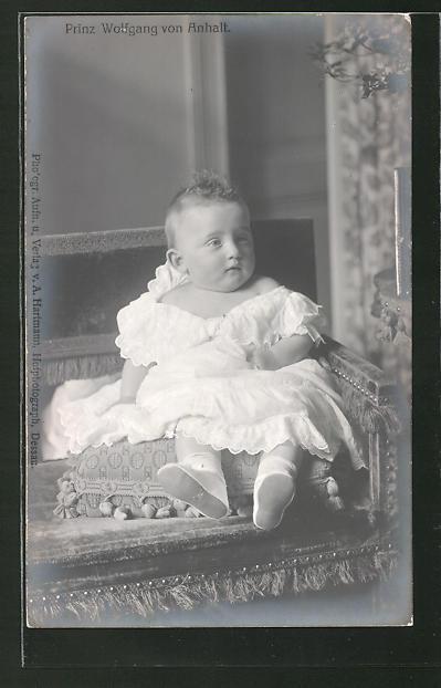 AK Prinz Wolfgang von Anhalt als Baby 0