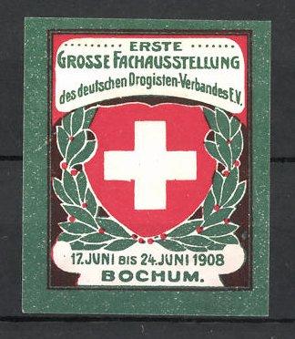 Reklamemarke Bochum, I. grosse Fachausstellung des deutschen Drogisten-Verbandes 1908