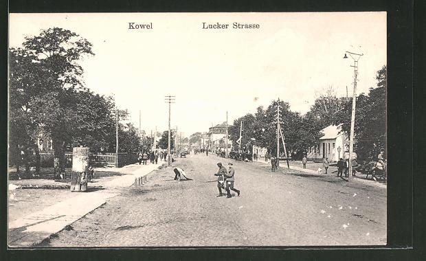 AK Kowel, Blick in die Lucker Strasse