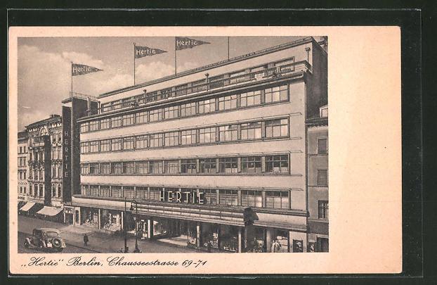 Ak Berlin Wedding Hertie Kaufhaus Chausseestrasse 69 71