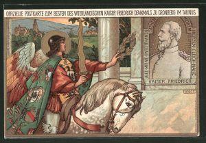 Lithographie Kronberg, Karte zum besten des vaterländischen Kaiser Denkmals, Ganzsache PP9 D15
