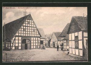 AK Bad Essen, Fachwerkhäuser in der Bahnhofstrasse