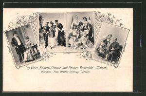 AK Dresden, Dresdner Konzert-Varieté und Possen-Ensemble