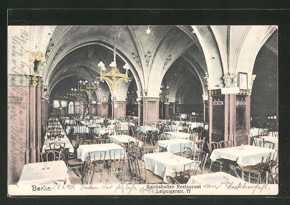 AK Berlin, Reichshallen-Restaurant, Leipzigerstrasse 77