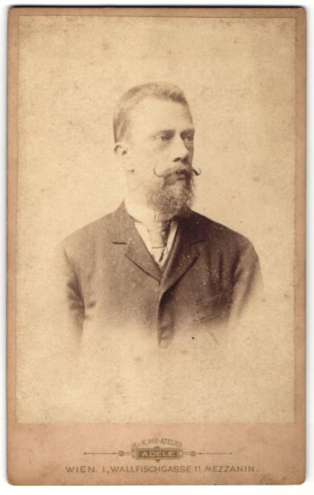 Fotografie Adele, Wien, Portrait Friedrich Graf von Schönborn 1841-1907, Politiker Österreich