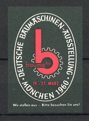 Reklamemarke München, Deutsche Baumaschinen-Ausstellung 1960, Messelogo