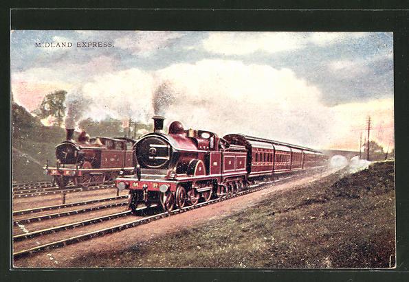 AK Midland Express, englische Eisenbahn