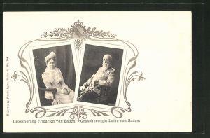 AK Grossherzog Friedrich und Grossherzogin Luise von Baden