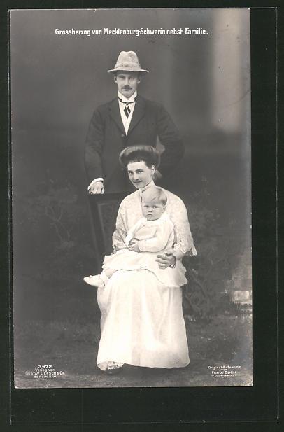 AK Grossherzog von Mecklenburg-Schwerin nebst Familie