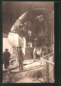 AK Couillet, Usines Metallurgique du Hainaut, Fabrikarbeiter