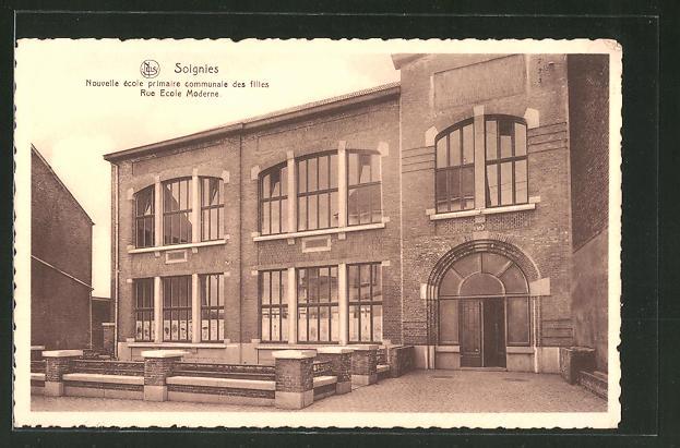 AK Soignies, Nouvelle école primaire communale des filles, Rue Ecole Moderne