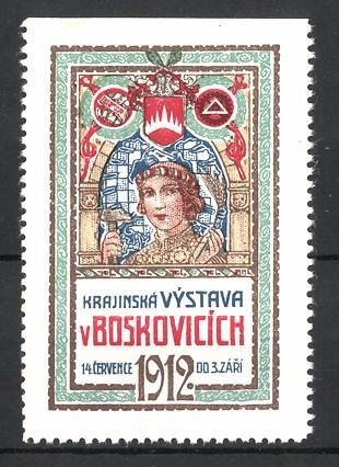 Reklamemarke Boskovice, Krajinská Vystava v Boskovicich 1912