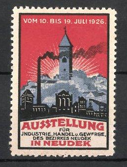 Reklamemarke Neudek, Ausstellung für Industrie, Handel und Gewerbe 1926