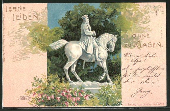 Künstler-AK Ulrich Weber: Denkmal Friedrich Wilhelm III. von Preussen