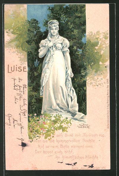 Künstler-AK Ulrich Weber: Denkmal der Königin Luise von Preussen