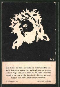AK Christuskopf, optische Täuschung