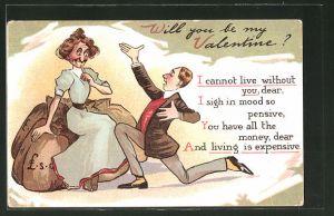 AK Will you be my Valentine?, Scherz