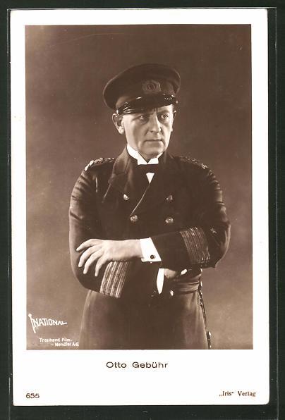 AK Schauspieler Otto Gebühr in Kapitäns-Uniform