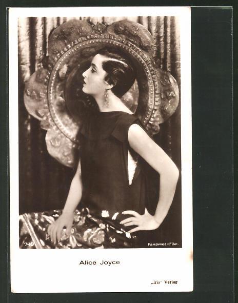 AK Schauspielerin Alice Joyce, Portrait der Schauspielerin im Profil