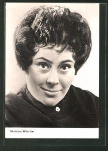 AK Schauspielerin Marianne Wünscher, Portrait der Schauspielerin