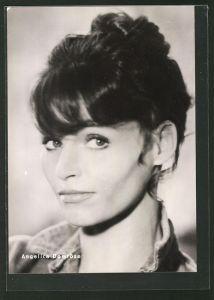 AK Schauspielerin Angelica Domröse, Portrait der Schauspielerin mit Hochsteckfrisur