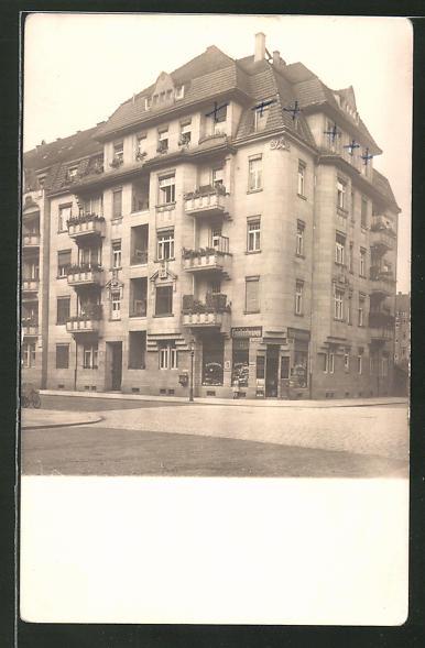 Foto-AK Dresden-Striesen, Wohnhaus Müller-Berset-Strasse 37 Ecke Tischerstrasse