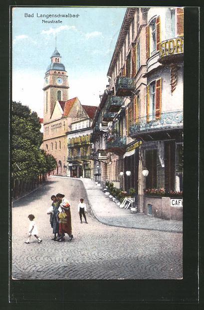AK Bad Schwalbach, Café auf der Neustrasse 0