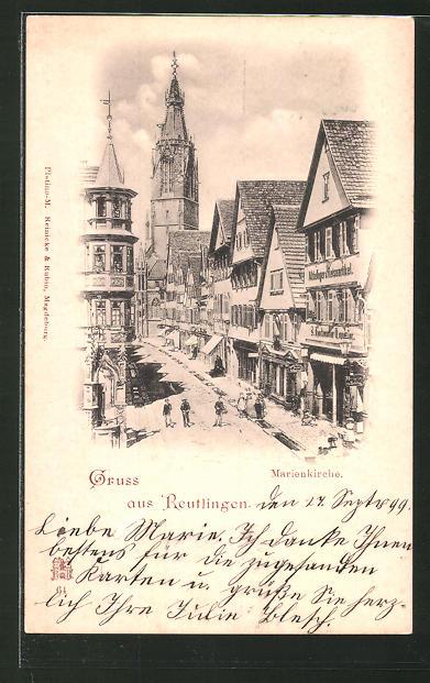 AK Reutlingen, Strasse zur Marienkirche 0