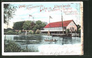 AK Lühe, A. Steinhoff's Fährhaus mit 1. Landungsbrücke 0