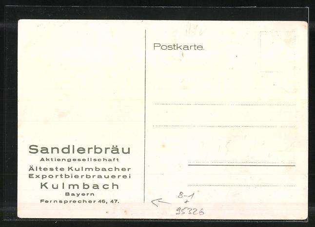AK Kulmbach, Erstmalige Ausfuhr nach Sachsen durch die Brauerei Sandler 1831 1