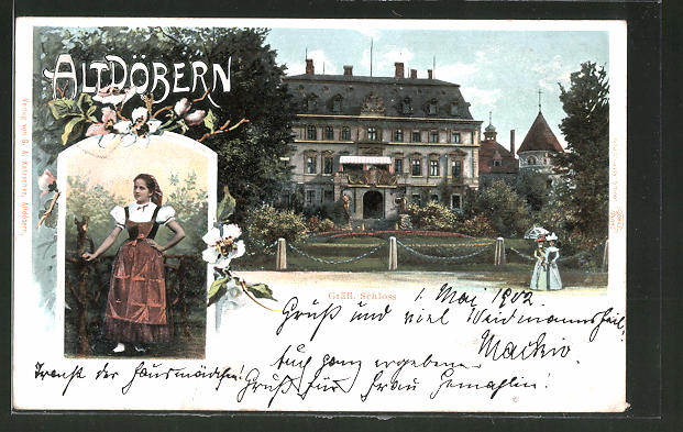 AK Altdöbern, Ansicht vom Gräfl. Schloss 0