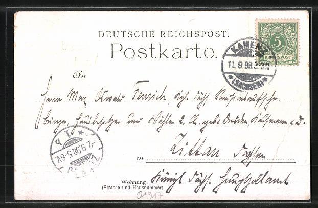 AK Kamenz, Ansichten der Stadt anno 1506 und 1898 1